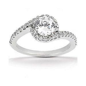 1.85 Ct. diamonds wedding ring solitaire engagemen